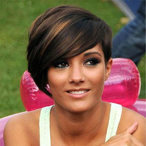 Pixie Cut Brown Short BOB Wigs-TSS119-True Style WIGS