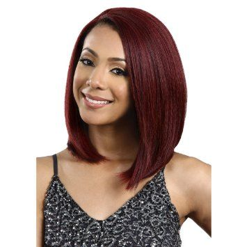 Wine-red shoulder length high quality bob head hairstyle wig-ZAZA143-ZAZALUM WIGS