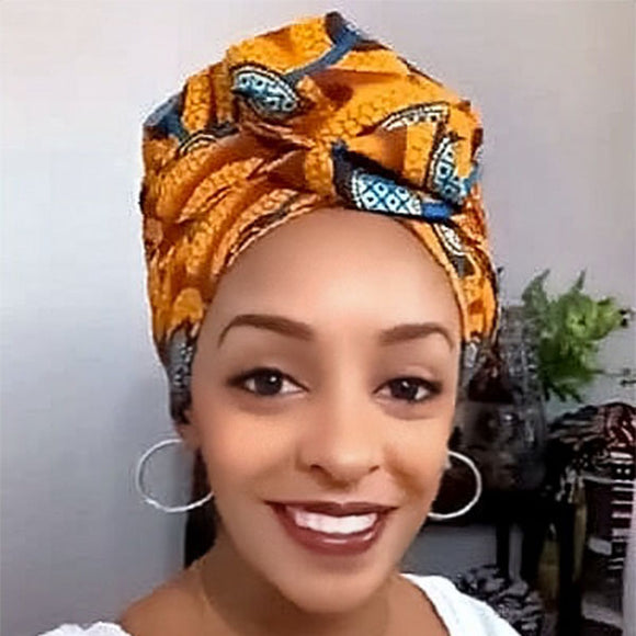 Creative Premium Satin Inner Headwrap Combined With a Nightcap-ZAZA1971-ZAZALUM WIGS