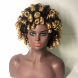 Gorgeous Roller Set and Bob style Wig-ZAZA198-ZAZALUM WIGS