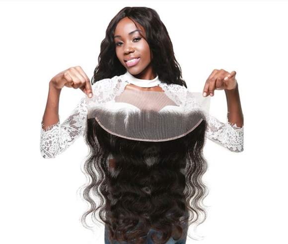 Body Wave Hair Frontal Lace Closure 100% Virgin Human Hair 13*4 Natural Black 8A-ZAZA1000-ZAZALUM WIGS