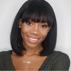 Short hair with straight bangs--TSS209-True Style WIGS