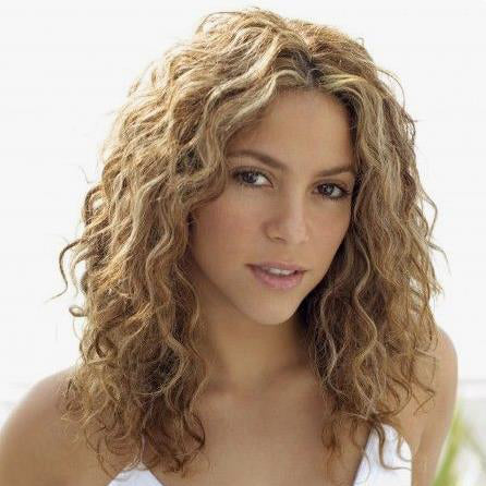 Synthetic Shoulder Length Blonde Curly Wig--ZAZA322-ZAZALUM WIGS