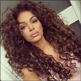 Synthetic Fashion Long Brown Curly Hairstyle Wig--TSS170-True Style WIGS