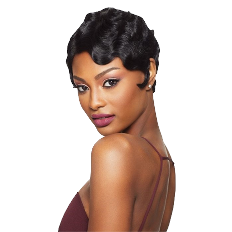 Partially Hot Rolled Short Hair--TSS379-True Style WIGS