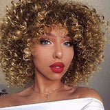 Afro Shoulder Length Big Curly Blonde Hair Wig-TSS265-True Style WIGS