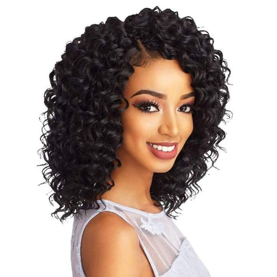 100%Human Hair#Black Long Curly Wig--ZAZA372-ZAZALUM WIGS
