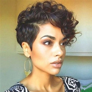 Super Natural Front Lace Pixie Chic Wig -ZAZA356-ZAZALUM WIGS