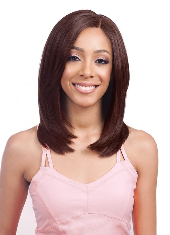 Chic Dark Brown Shoulder Length Bob Hairstyle Wigs-ZAZA145-ZAZALUM WIGS