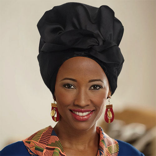 Solid Color Luxury Creative Headwrap (Black)-ZAZA1800-ZAZALUM WIGS