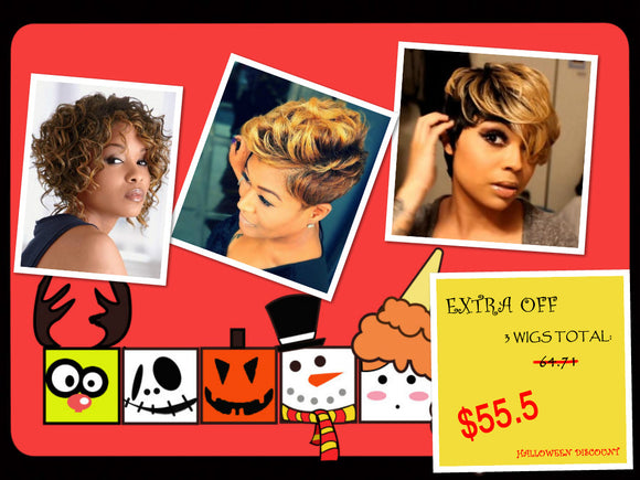 Halloween Discount Package B: HOT SALE Product In Our Shop-ZAZALUM WIGS