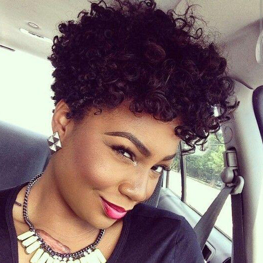 Black Curly Short Hair--ZAZA788-ZAZALUM WIGS