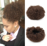 Short Kinky Curly Puff Large Round Ponytail Bun Hair Extension Synthetic Wig-TSS047-True Style WIGS