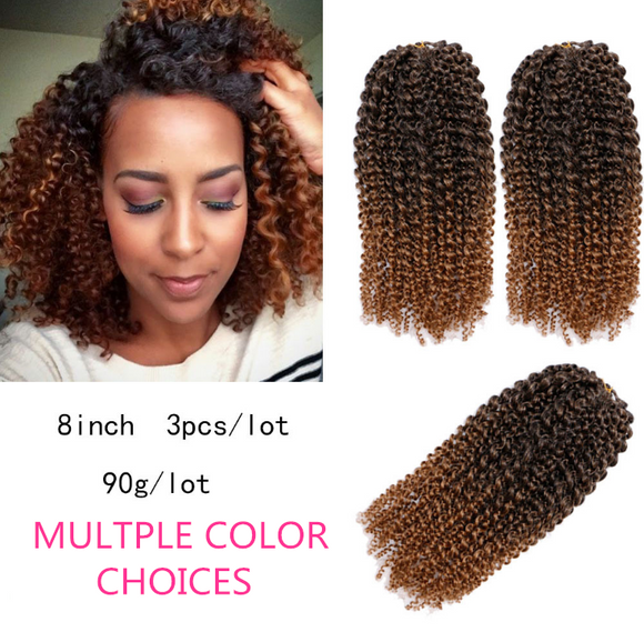 Ombre Jumpy Wand Curl Crochet Braids 22 Roots Jamaican Bounce Synthetic Hair Extension for Black Women-ZAZA043-ZAZALUM WIGS