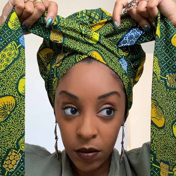 Creative Premium Satin Inner Headwrap Combined With a Nightcap-ZAZA1970-ZAZALUM WIGS