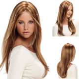 Fashion Women's Style# Synthetic Long Straight Blonde Hair Wig-TSS059-True Style WIGS