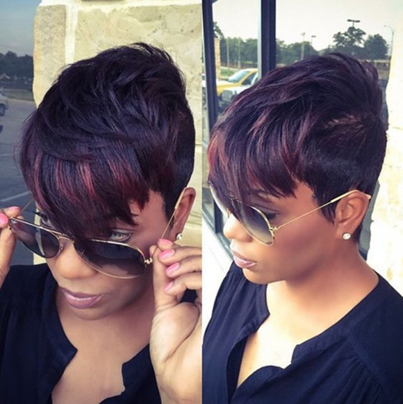 Rihanna Style Trimmed Sides Pixie Cut Wig-TSS062-True Style WIGS