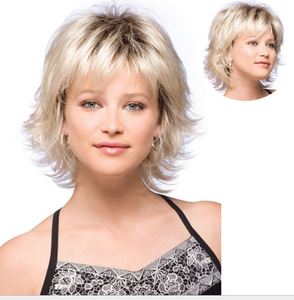 New Hot Sell Cool Women Light Blonde Short Curly Cosplay Hair Full Wig -ZAZA076- 28611433e