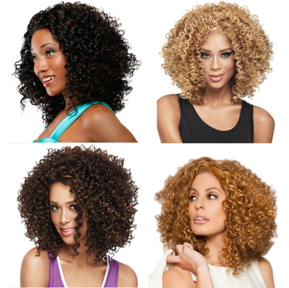 Synthetic African Fashion Kinky Curly Hairstyle Wig -TSS051-True Style WIGS