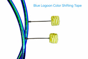 Blue Lagoon Fully Taped Fire Hula Hoop with Wicks