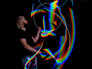 Atomic V Classic LED Hoop by Astral Hoops