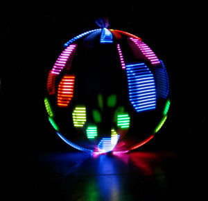 Atomic V AF LED Hoop by Astral Hoops