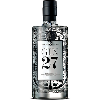 GIN 27 PREMIUM APPENZELLER DRY GIN 0.7L,Gin 27, wevino.store