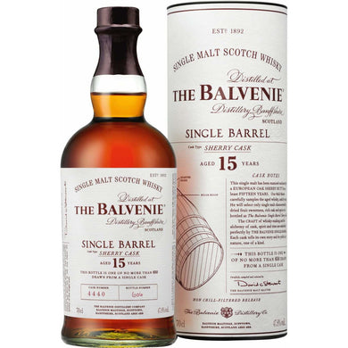 The Balvenie Single Barrel 15 Year Old 0.7l