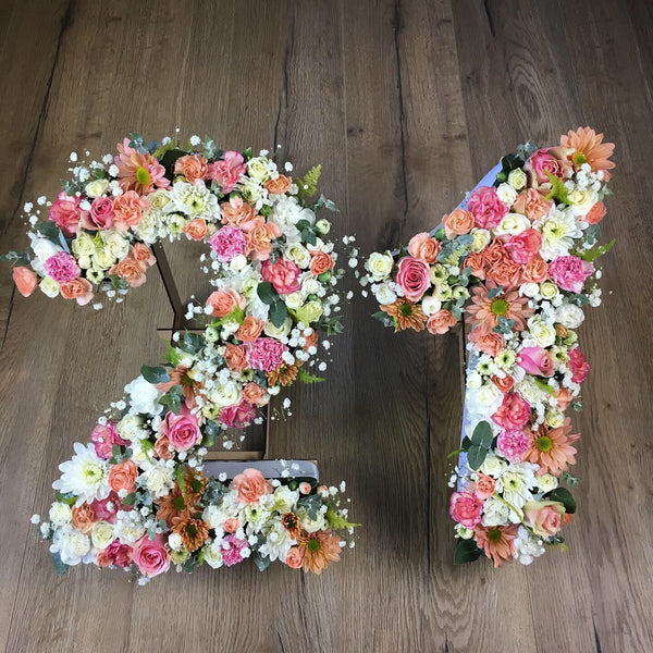 Fresh custom made Floral numbers