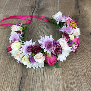 Fresh hand made flower crown