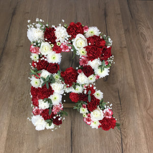 Fresh hand made floral letters