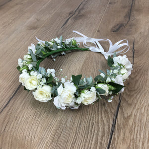 fresh custom made flower crowns