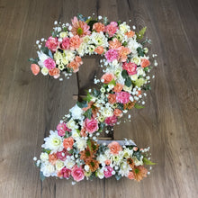 Load image into Gallery viewer, Fresh custom made Floral numbers