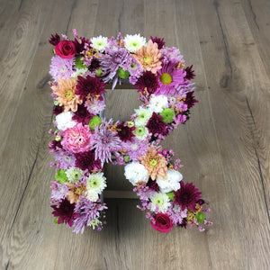 fresh custom made floral letters