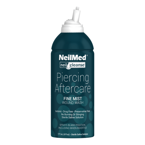 Sterile Saline piercing aftercare 4oz.