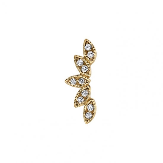 Serenity 14k gold end w/Diamonds