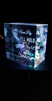 Memorial Quote with in a Crystal