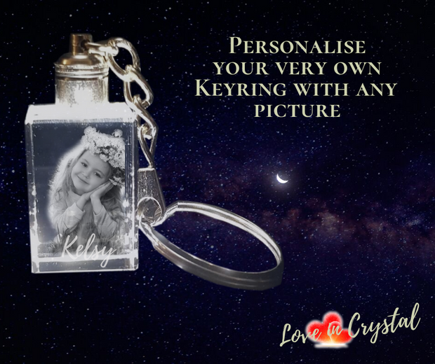 Create your own Personal Crystal Keyring