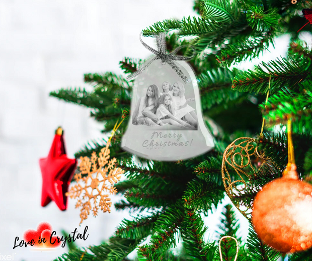 Personalised Christmas Crystal Tree Ornament