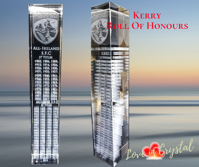 Kerry Roll of Honours Crystal