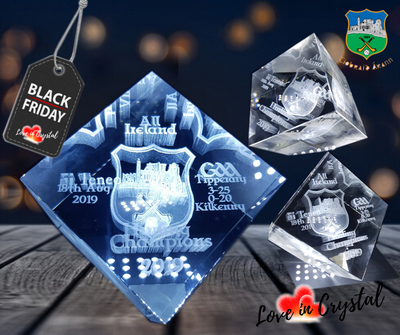 Tipperary Hurling Champions Cut Cube Crystal