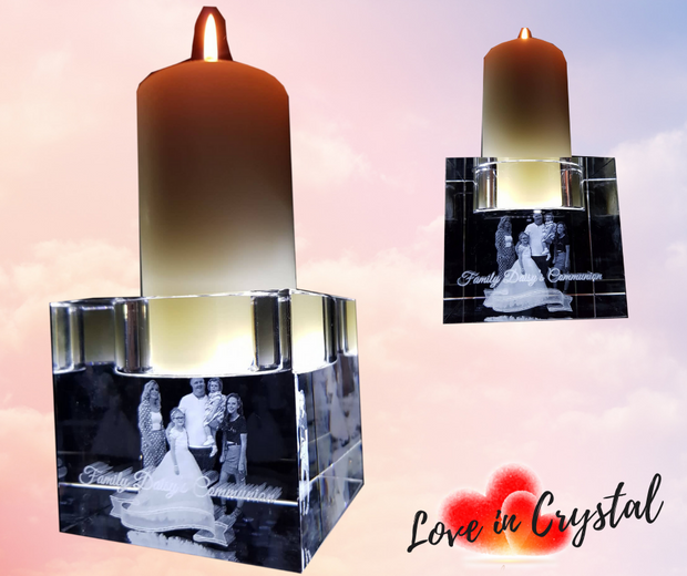 Communion Crystal Candle Holder