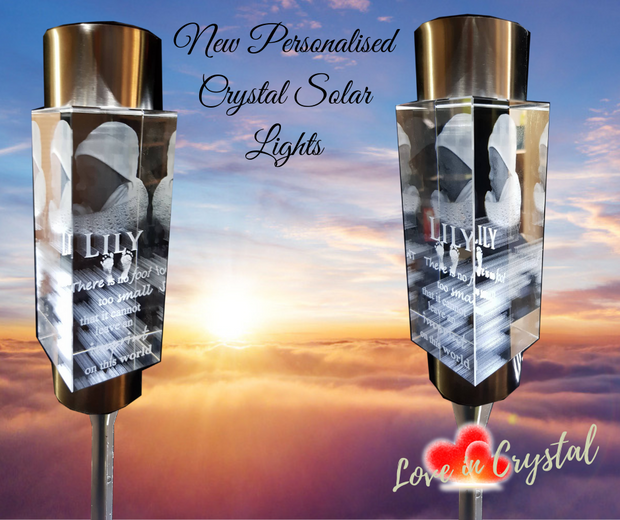 Personalised Crystal Solar Light