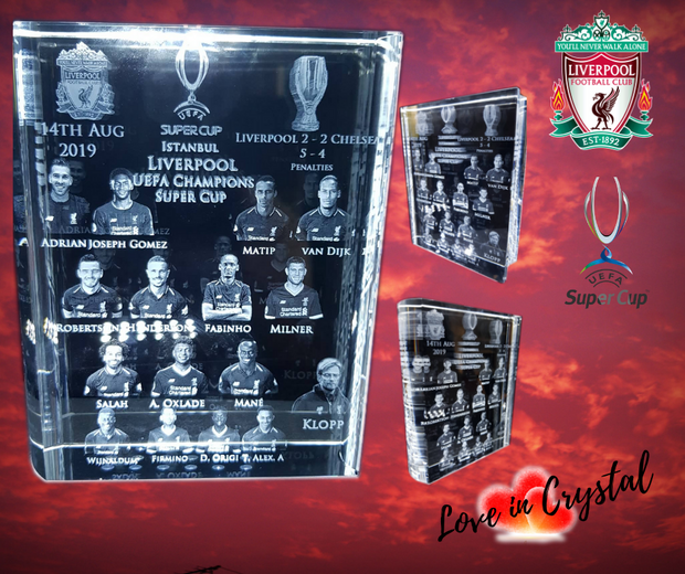 Liverpool Super Cup Champions Crystal
