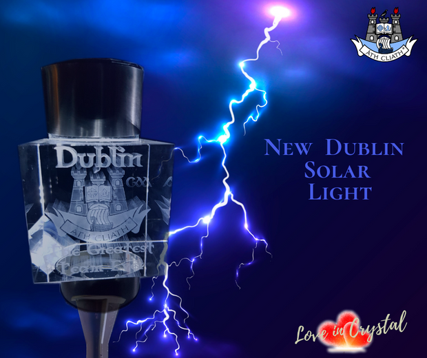 New Dublins Crystal Crest Solar Light