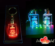 Liverpool Crystal keyring with led light