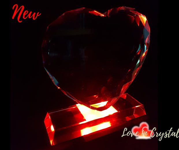 NEW Valentine's Love Heart Crystal Collection