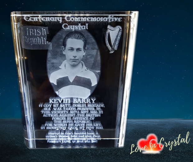Kevin Barry Centenary Crystal