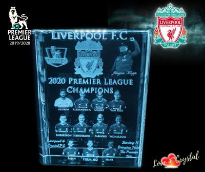 Liverpool Premier League Champions Crystal Book