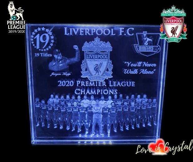 Liverpool EPL Champions Crystal